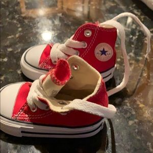 Baby Boy/Girl red Converse , size 2